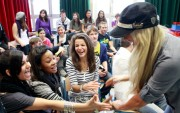 Kelly Kelly-At WrestleMania Reading Challenge Participants In Cologne, Germany