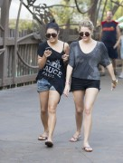 Эшли Бенсон, фото 388. Ashley Benson at Busch Gardens in Tampa Bay 03/03/12*with Vanessa Hudgens, foto 388,